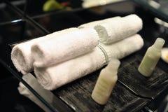 kąpielowi ręczniki zdjęcie stock