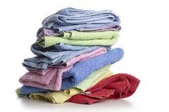 Kąpielowi ręczniki przeciw Obraz Stock
