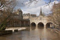 kąpielowy bridżowy pulteney Somerset uk Zdjęcia Stock