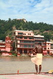 kąpielowy haridwar święty Obraz Royalty Free