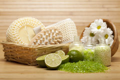 kąpielowy masażu soli zdrój wytłaczać wzory traktowanie Zdjęcie Royalty Free