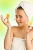 kąpielowy piękna składu olej mydli traktowanie zdjęcia royalty free