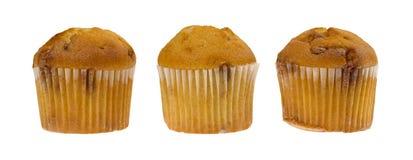 Kąsek pikantności wielkościowi jabłczani muffins zdjęcie royalty free