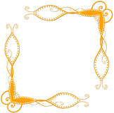 kątów pomarańcze spirala Obraz Royalty Free