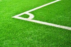 Kąt boisko piłkarskie. Obrazy Royalty Free