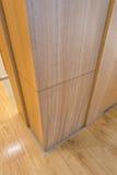 Kąt drewniana ściana Fotografia Stock
