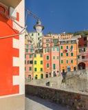 Kąt kolorowy Riomaggiore fotografia stock