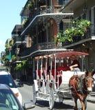Kąt Królewska i Domaine ulica - Nowy Orlean zdjęcia stock