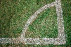 Kąt przy piłką nożną Fotografia Royalty Free