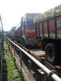 kąt zamazywał skutka ruchu transportu ciężarówki widok szerokiego Zdjęcie Stock