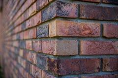 Kąta ściana z cegieł Zdjęcia Royalty Free