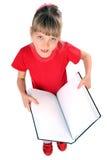kąta książkowy dziewczyny portret Zdjęcie Royalty Free