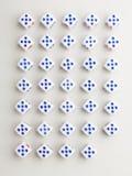 Kąta pięć krzyża wzór Zdjęcia Stock
