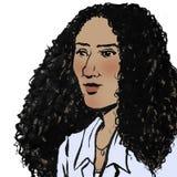 kędzierzawa z włosami kobieta obraz stock