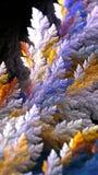Kędzierzawy rośliny fractal ilustracji