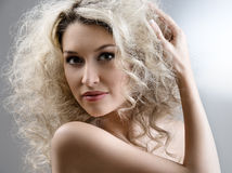 kędzierzawy włosy Fotografia Royalty Free