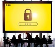 Kędziorek ikony hasło Ochraniający Graficzny pojęcie fotografia stock