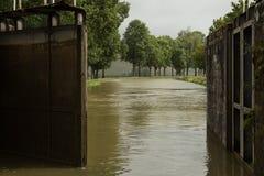 Kędziorek, Kanał De Bourgogne, Francja fotografia royalty free