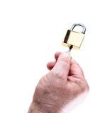 Kędziorek z kluczem w ręce Fotografia Stock