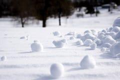Kępy Rozpraszać Nad ziemią śnieg Zdjęcia Stock