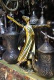 Kłębiastego derwisza lub Mevlevi postać, Antykwarska derwisz postać, Religijna obrazy stock