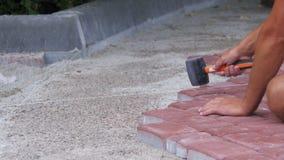 Kłaść brukowych kamienie zdjęcie wideo