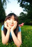 Kłaść W dół TARGET946_1_ Kwiatu Zdjęcia Royalty Free