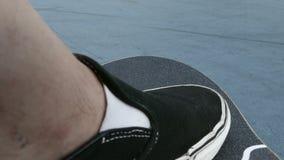 Kładzenie stopa na deskorolka zbiory