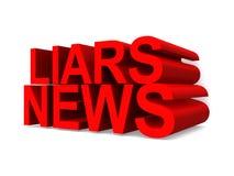 Kłamcy wiadomość royalty ilustracja