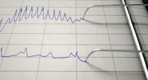 Kłamstwo detektoru test ilustracji