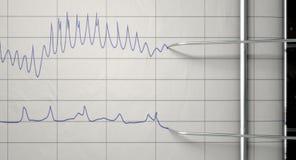 Kłamstwo detektoru test royalty ilustracja