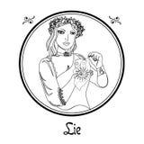 Kłamstwo grzech ilustracja wektor