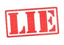 Kłamstwo pieczątka Fotografia Royalty Free
