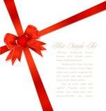 kłania się prezenta faborek kierowego czerwonego royalty ilustracja