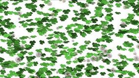 4k三叶草蒲公英萌芽草坪草植被植物背景 库存例证
