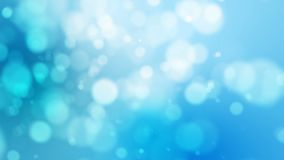 4K与迷离bokeh和光线影响的蓝色抽象抽象背景