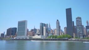4k中间地区地平线移动的射击在纽约 股票录像