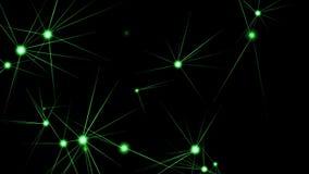 4k亮光星天空空间,火光光芒光微粒,数据加点点夜总会阶段 库存例证