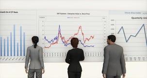 4k企业队分析财务圆图&股票趋向图 皇族释放例证