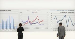 4k企业队分析财务圆图&股票趋向图 库存例证
