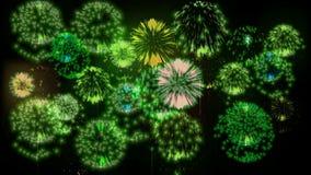 4K倍数烟花 美丽的五颜六色的大firecrakers 3d动画,不同的版本 18 影视素材