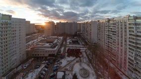 4k公寓城市天和夜间流逝 影视素材