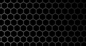 4k六角形背景细胞样式黑色和蓝色 向量例证