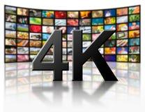 4k决议电视概念 库存照片