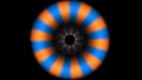 4k动画片漩涡气氛隧道&自转花梢样式光,动态vj材料 库存例证