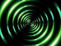 4K圆环透镜火光批转绿色 库存照片