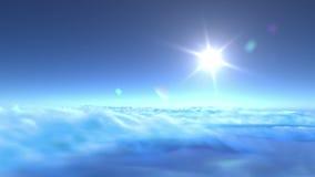 4K在云彩的飞行 皇族释放例证