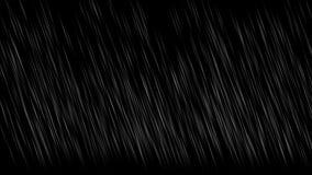 4k在夜背景,多雨风暴大雨天气,水下落的降雨 向量例证