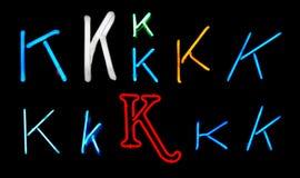 k在氖上写字 向量例证