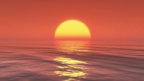 4k在海洋的大太阳上升,日出时间间隔 股票视频